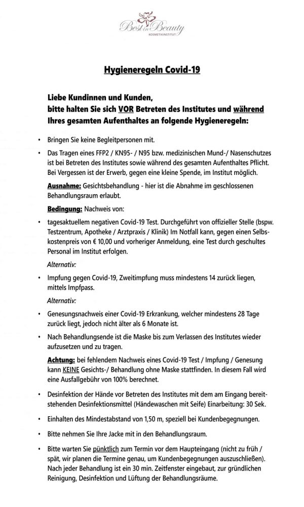 Kundenaushang Covid Eingang Stand 2021_05_27_Seite_1